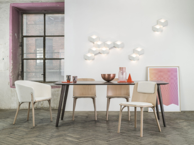 Židle a křeslo Split se stolem Malmö